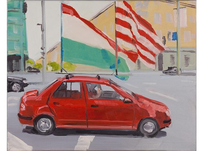 Csaba Nemes, //Codzienność 56//, 2007-2009, olej / płótno, 55 × 75 cm