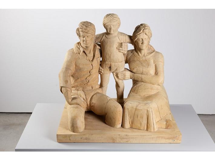 Giorgi Khaniashvili, //Rodzina//, 2013, rzeźba, 63 × 66 × 54 cm