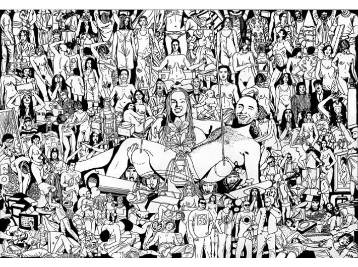 Mariusz Tarkawian, //123 dzieła z Kolekcji MOCAK-u//, 2016, flamaster / papier