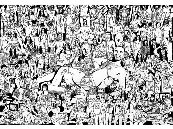 Mariusz Tarkawian, //123 Works from the MOCAK Collection//, 2016, felt-tip pen / paper