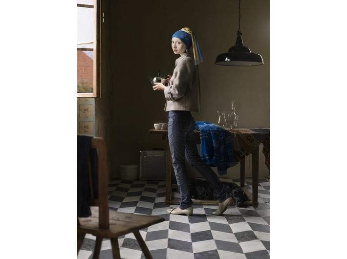 Dorothee Golz, //Dziewczyna z perłą  (Der Perlenohrring)//, z cyklu //Cyfrowe obrazy (Digitale Gemalde)//, 2009, fotografia, courtesy D. Golz, Charim Galerie