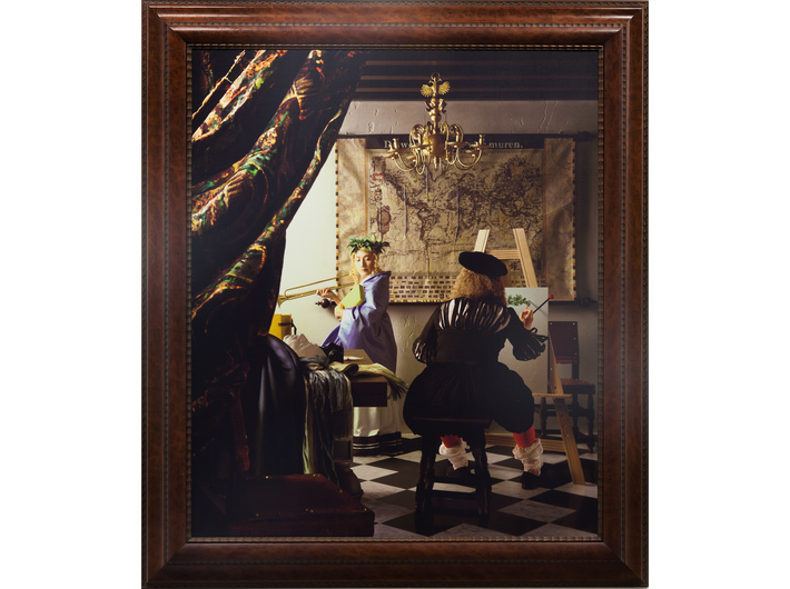Yasumasa Morimura, //Atelier Vermeera (wielka opowieść z kąta małego pokoju)//, 2004 wydruk chromogeniczny / płótno, courtesy of Y. Morimura, Luhring Augustine, New York