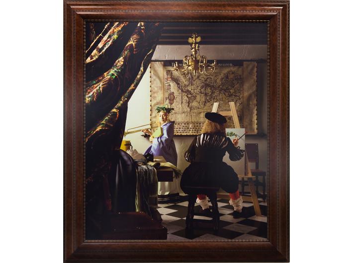 Yasumasa Morimura, //Atelier Vermeera (wielka opowieść z kąta małego pokoju)//, 2004 wydruk chromogeniczny / płótno, courtesy of Y. Morimura, Luhring Augustine, New York