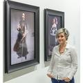 Katarzyna Wincenciak przy pracach Yasumasy Morimury, wystawa //Sztuka w sztuce//, fot. Rafał Sosin678
