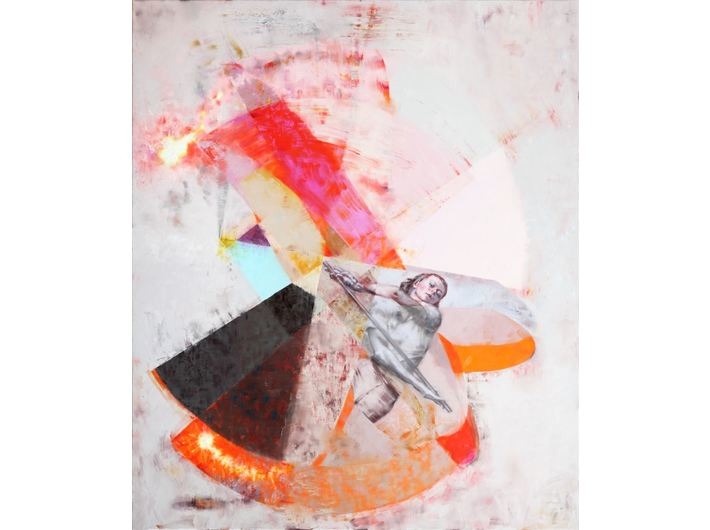 Paweł Książek, //Composition 05 (Rozalia)//, 2017, oil / canvas, 200 × 170 × 4 cm, © P. Książek, courtesy of ŻAK | BRANICKA Gallery, Berlin