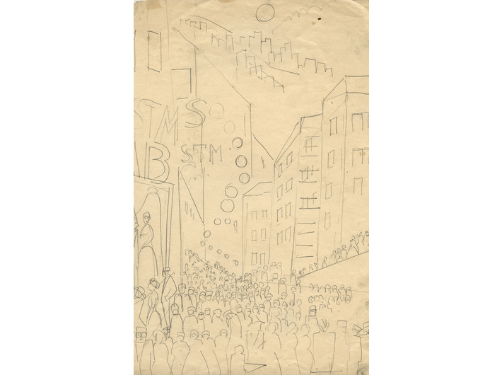 Leon Chwistek, untitled, 1920s – 1930s, pencil / paper, 31.9 × 19 cm, private collection