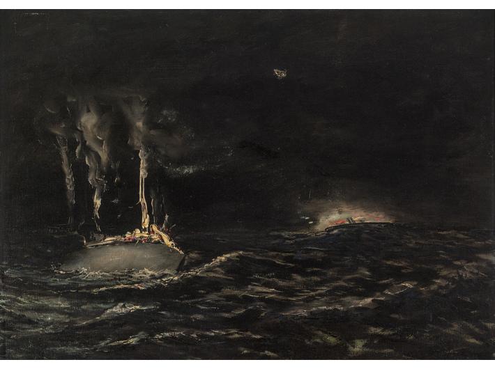 //Nach der Schlacht//, 1927, Öl / Leinwand, 47 × 66 cm