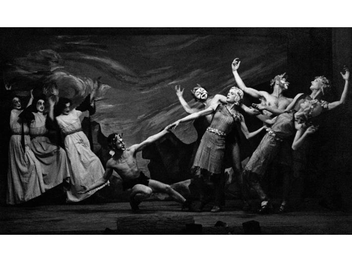 Rewia noworoczna //Noc na Łysej Górze//, Oflag II C Woldenberg, 1942, courtesy of Instytut Teatralny im. Zbigniewa Raszewskiego