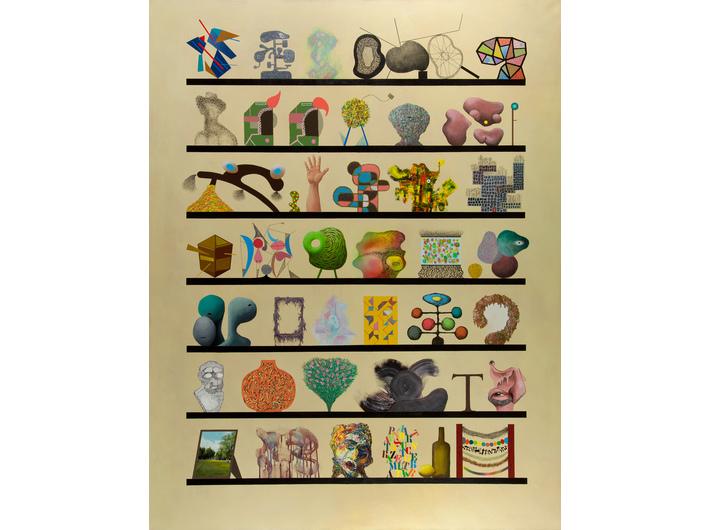 Tymek Borowski, bez tytułu, 2010,  olej, akryl / płótno, Kolekcja MOCAK-u