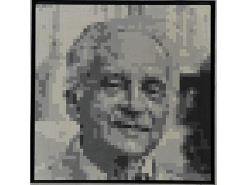 Ryszard Winiarski, Portret Mieczysława Porębskiego, 1980, Kolekcja MOCAK-u
