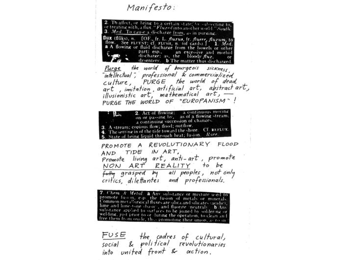 George Maciunas, Manifest Fluxusu, 1963