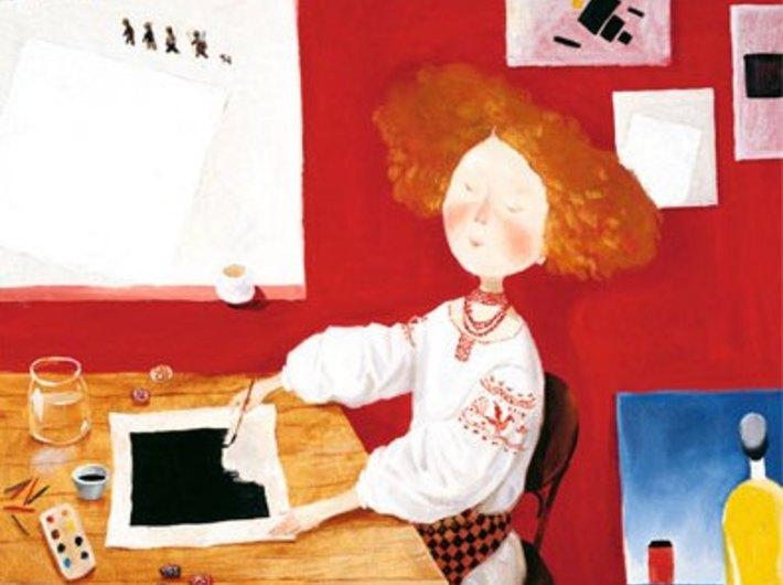 Ilustracja z książki //Liza i jej sny// autorstwa Żeni Hapczynskiej - 1