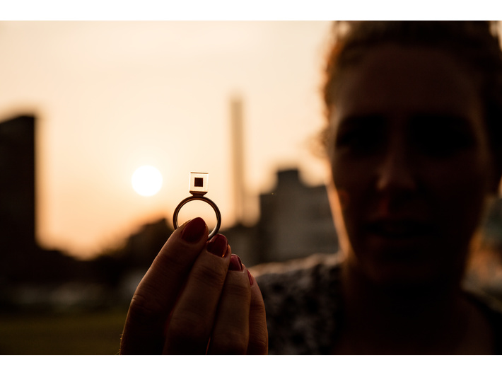 //Smog Free Project// - a ring with a stone that contains compressed smog