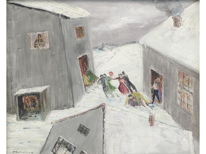 //Karnawał w śniegu// (//Fasching im Schnee//), 1926, olej / płótno, 41 × 35 cm, courtesy Muzeum Joachima Ringelnatza, Cuxhaven