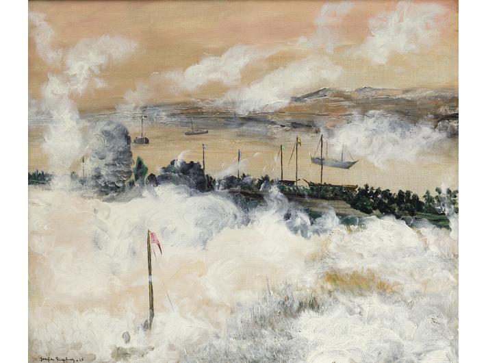 //Skłębiona mgła// (//Geballter Nebel//), 1928, olej / płótno, 54 × 64 cm, courtesy Muzeum Joachima Ringelnatza, Cuxhaven