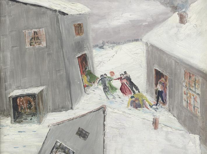 //Fasching im Schnee//, 1926, oil / canvas, 41 × 35 cm, courtesy of Joachim-Ringelnatz-Museum, Cuxhaven
