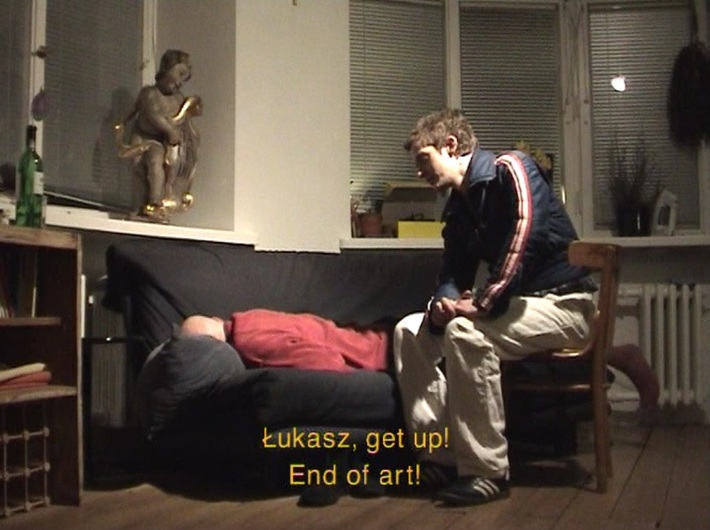Azorro, //The End of Art//, 2002, video, 2 min 49 s