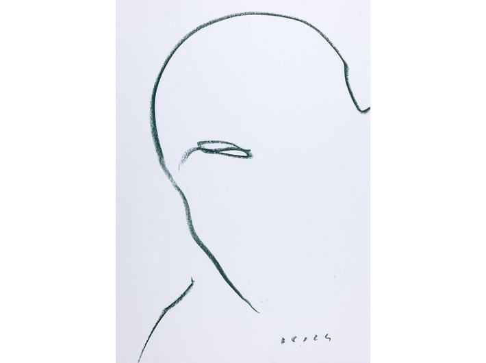 Dietrich Helms, //bez tytułu//, 1992, kredka świecowa / papier, 59,3 × 41,8 cm, Kolekcja MOCAK-u