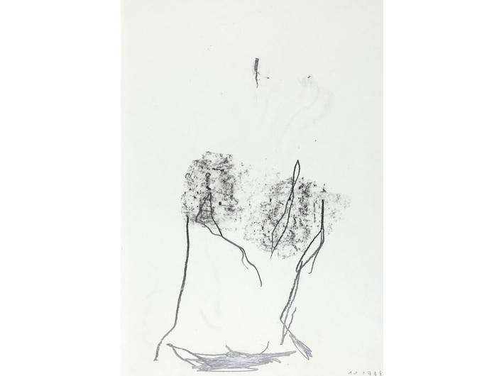Dietrich Helms, //bez tytułu//, 1978, grafit / papier, 61 × 43 cm, Kolekcja MOCAK-u