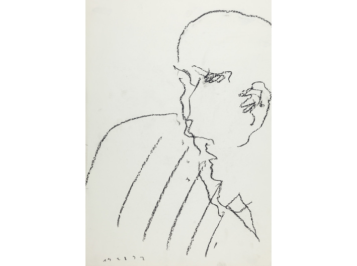 Dietrich Helms, //bez tytułu//, 1982, grafit / papier, 61 × 42,6 cm, Kolekcja MOCAK-u