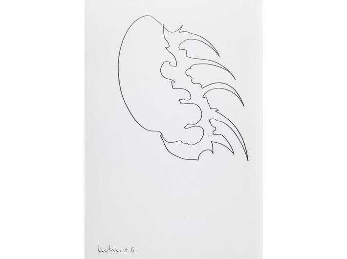 Dietrich Helms, //bez tytułu//, 2006, grafit / papier, 48 × 33 cm, Kolekcja MOCAK-u