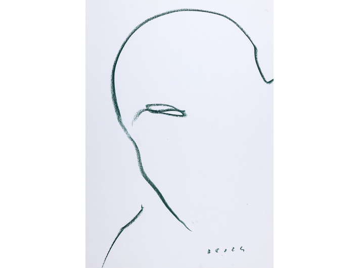 Dietrich Helms, //untitled//, 1992, wax crayon / paper, 59.3 × 41.8 cm, the MOCAK Collection
