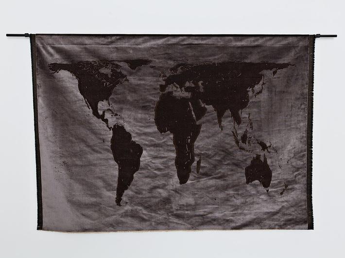 Mona Hatoum, //Projection (velvet)//, 2013, object, 94.8 × 140.5 cm, the MOCAK Collection, photo: E. Bialkowska, courtesy of Galleria Continua, San Gimignano / Beijing / Les Moulins / Habana