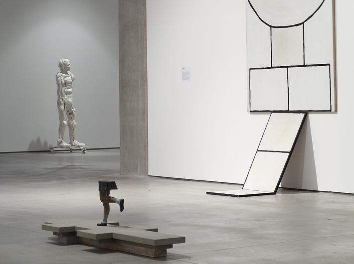 Kolekcja MOCAK-u, od prawej prace: Marii Stangret, Sofie Muller, Pawła Althamera, fot. R. Sosin
