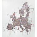 Małgorzata Markiewicz, //Mapa//, 2013, obiekt, 250 × 250 cm, Kolekcja MOCAK-u, fot. R. Sosin794