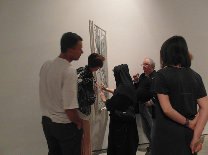 Warsztaty //Sztuka pod ręką//, na zdjęciu widoczna praca Rafała Bujnowskiego //Witraż//, 2007, fot. Dział Edukacji