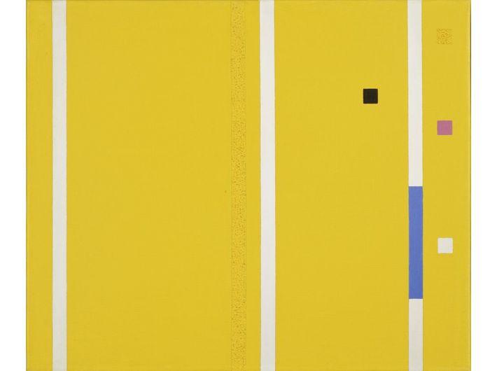 Friedrich Vordemberge-Gildewart, //K 194//, 1953, olej / płótno, 50 × 60 cm, Annely Juda Fine Art, Londyn, courtesy Vordemberge-Gildewart Foundation, Switzerland