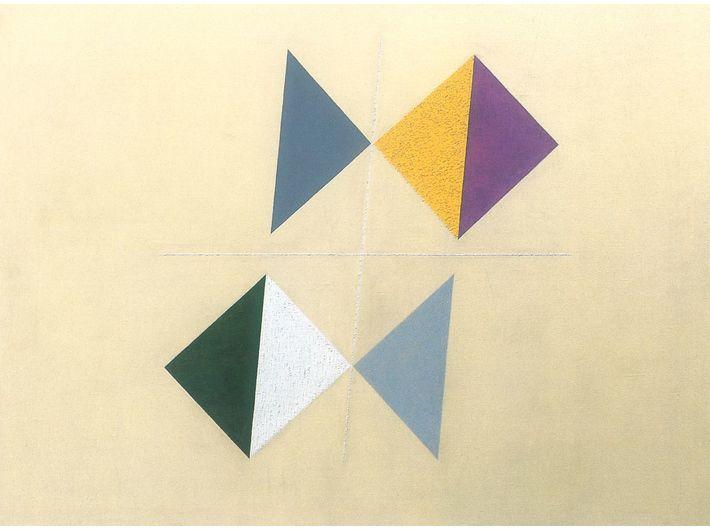 Friedrich Vordemberge-Gildewart, //K 144//, 1943, olej / płótno, 60 × 80 cm, Museumsquartier, Osnabrück, courtesy Vordemberge-Gildewart Foundation, Switzerland