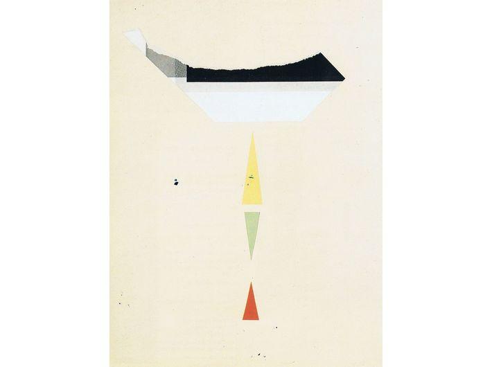 Friedrich Vordemberge-Gildewart, bez tytułu [C 13], 1949, kolaż (papier / papier), 31,4 × 23,7 cm, Annely Juda Fine Art, Londyn, courtesy Vordemberge-Gildewart Foundation, Switzerland