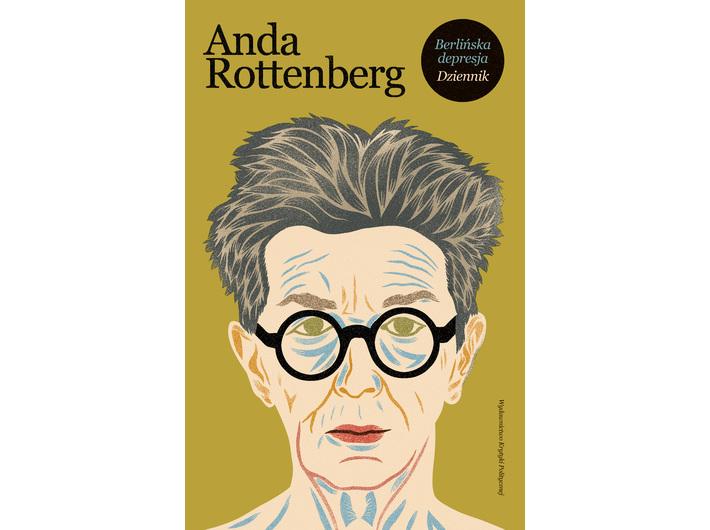 The cover of Anda Rottenberg's book //Berlińska depresja. Dziennik//, published by Wydawnictwo Krytyki Politycznej