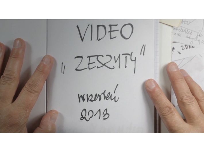 Ewa Zarzycka, //Videozeszyty//, 2013, wideo, 10 min 29 s, Kolekcja MOCAK-u