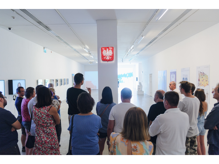 Guided tour of the exhibition //Motherland in Art//, 8.8.2018, photo: L. Radyk