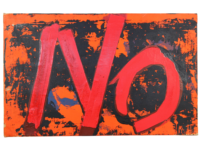Boris Lurie, //Feel Painting: NO with Red and Black//, 1963, acrylic / canvas, 55.9 × 88.9 cm, courtesy of Boris Lurie Art Foundation