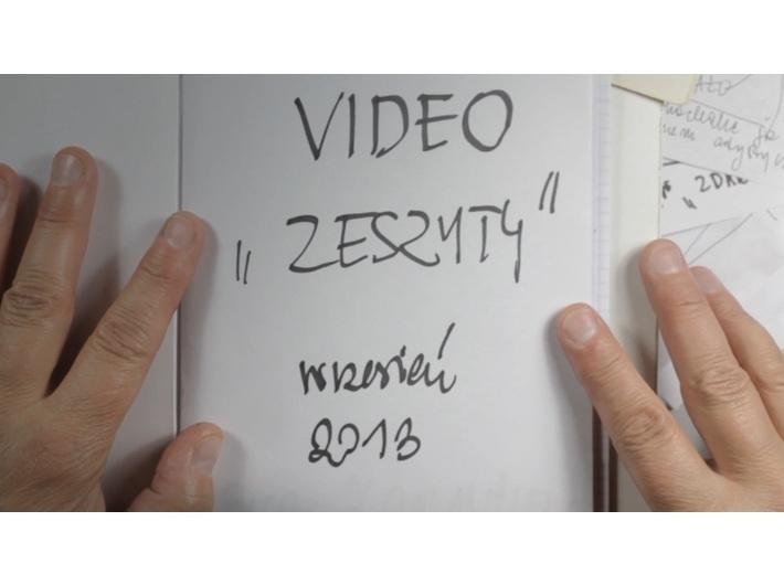 Ewa Zarzycka, //Videonotebooks//, 2013, video, 10 min 29 s, MOCAK Collection