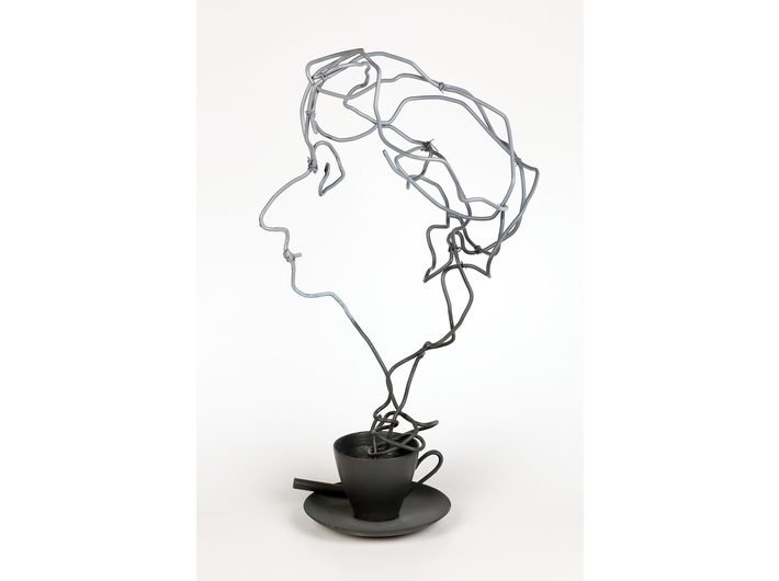 Krzysztof M. Bednarski, //Projekt nagrody Wisławy Szymborskiej (dla fundacji jej imienia)//, rzeźba, 44 × 25 × 20 cm, Kolekcja MOCAK-u