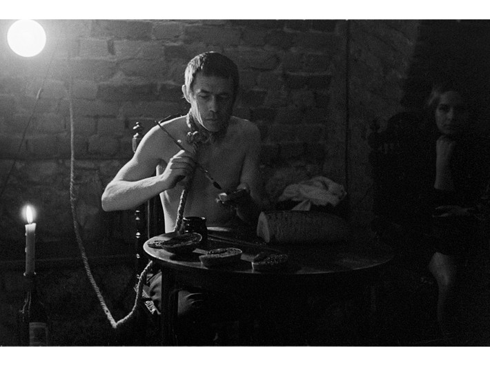 Happening //Chleb malowany czarno// Jerzego Beresia, 11 XI 1968, fot. Jacek Maria Stokłosa