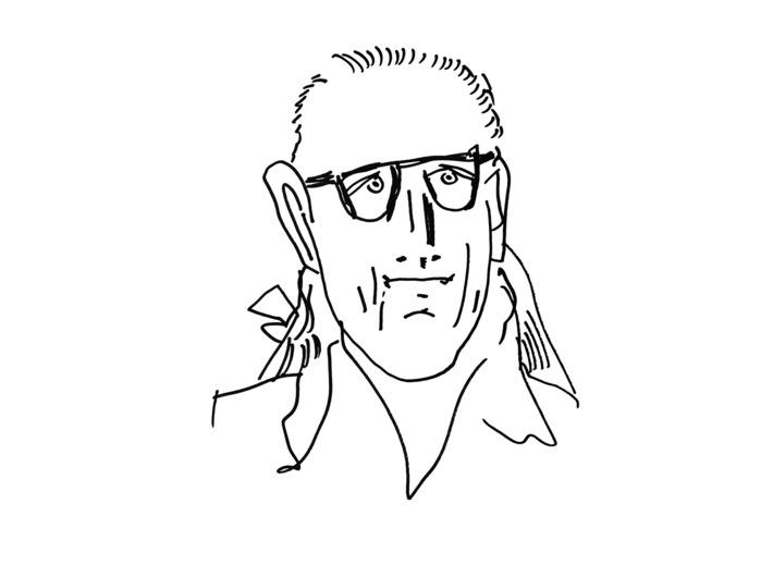 Edward Dwurnik Self-Portrait, 2015