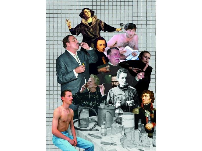 Alicja Biała, //Polki i Polacy//, collage, 41 × 29 cm, courtesy A. Biała