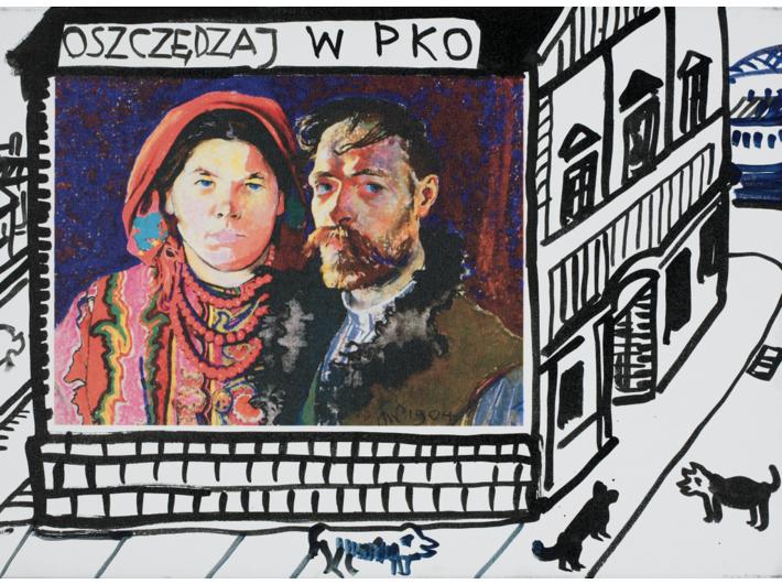 Edward Dwurnik, //Wall on Krowoderska Street//, 2007