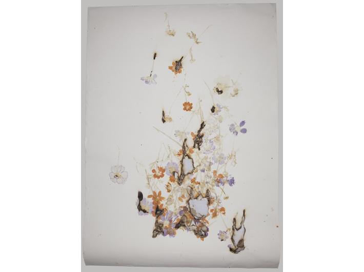 Akira Inumaru, z cyklu /Ignis fatuus (Błędne ogniki)//, 2013, technika mieszana / papier, 109,5 × 79 cm, Kolekcja MOCAK-u, fot. R. Sosin