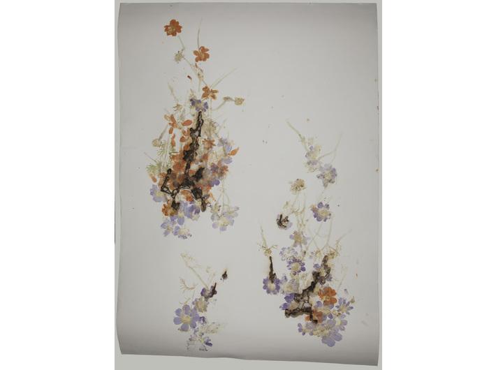 Akira Inumaru, z cyklu //Ignis fatuus (Błędne ogniki)//, 2013, technika mieszana / papier, 109,5 × 79 cm, Kolekcja MOCAK-u, fot. R. Sosin