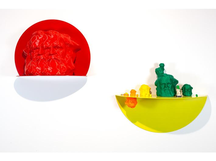 Widok wystawy //Karol Marks vs Moby Dick. Analiza formy i rozbiórka idei//, fot. R. Sosin