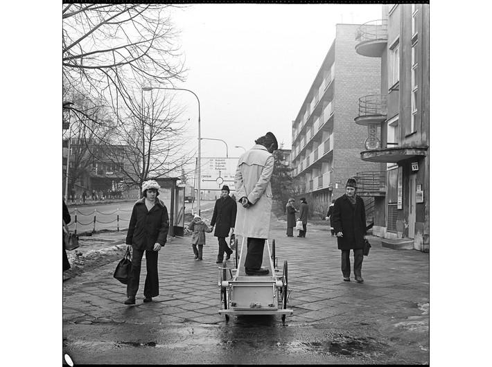Krzysztof Wodiczko, //Vehicle I//, Warsaw, 1973, MOCAK Archive