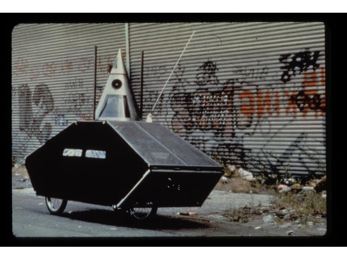 Krzysztof Wodiczko, //Poliscar//, New York, 1991, MOCAK Archive