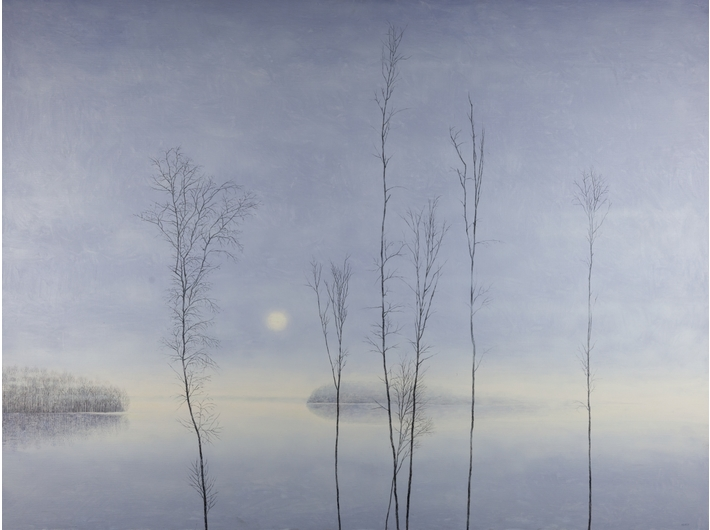 Rafał Borcz, //Olchy II//, 2017, olej / płótno, 120 × 160 cm, Kolekcja MOCAK-u