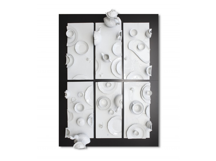 Daniel Spoerri, //Der Zerschnittene//, 2014, obiekt, 134  × 102 × 30 cm, Kolekcja MOCAK-u